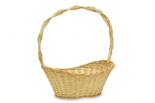 HALF WILLOW NATURAL BASKET