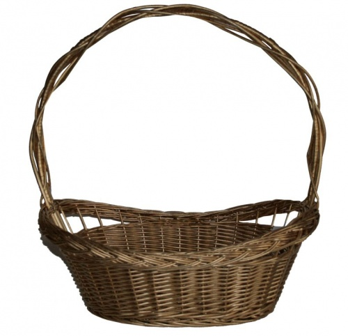 FULL WILLOW PLAIT GOLD BASKET