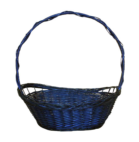 FULL WILLOW PLAIT BLUE BASKET