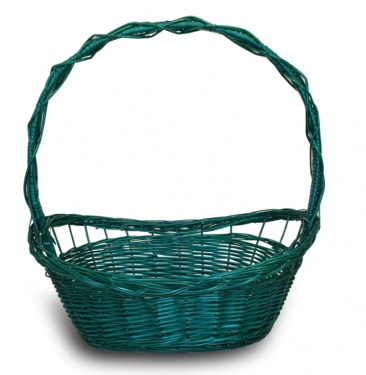 FULL WILLOW PLAIT GREEN BASKET