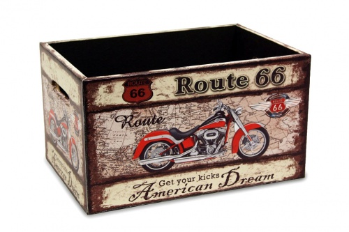 CAJA MADERA ROUTE 66