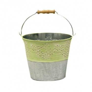 GREEN BUCKET PLANTER